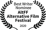 David Tumpkin nominated Best Writer, AltFF Alternative Film Festival, 2020